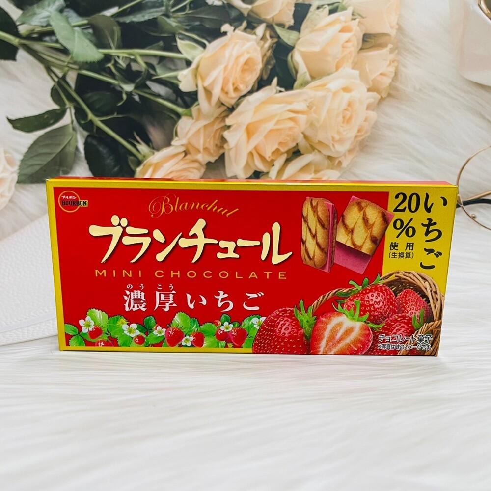 潼漾小舖 限量優惠日本 bourbon 北日本 迷你帆船巧克力 草莓夾心餅