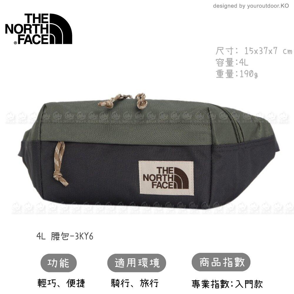 【The North Face 4L 腰包《灰綠》】3KY6/側背包/隨行包/臀包/透氣/運動/跑步