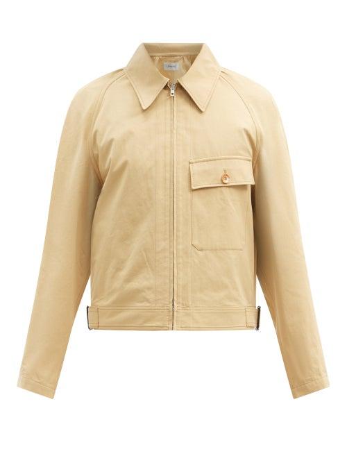Lemaire - Cropped Cotton-canvas Jacket - Mens - Light Beige