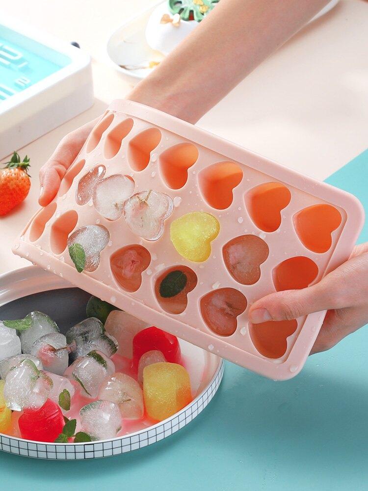 製冰盒 冰格模具硅膠可愛創意網紅帶蓋凍冰塊神器冰箱速凍器制冰盒【TZ76】