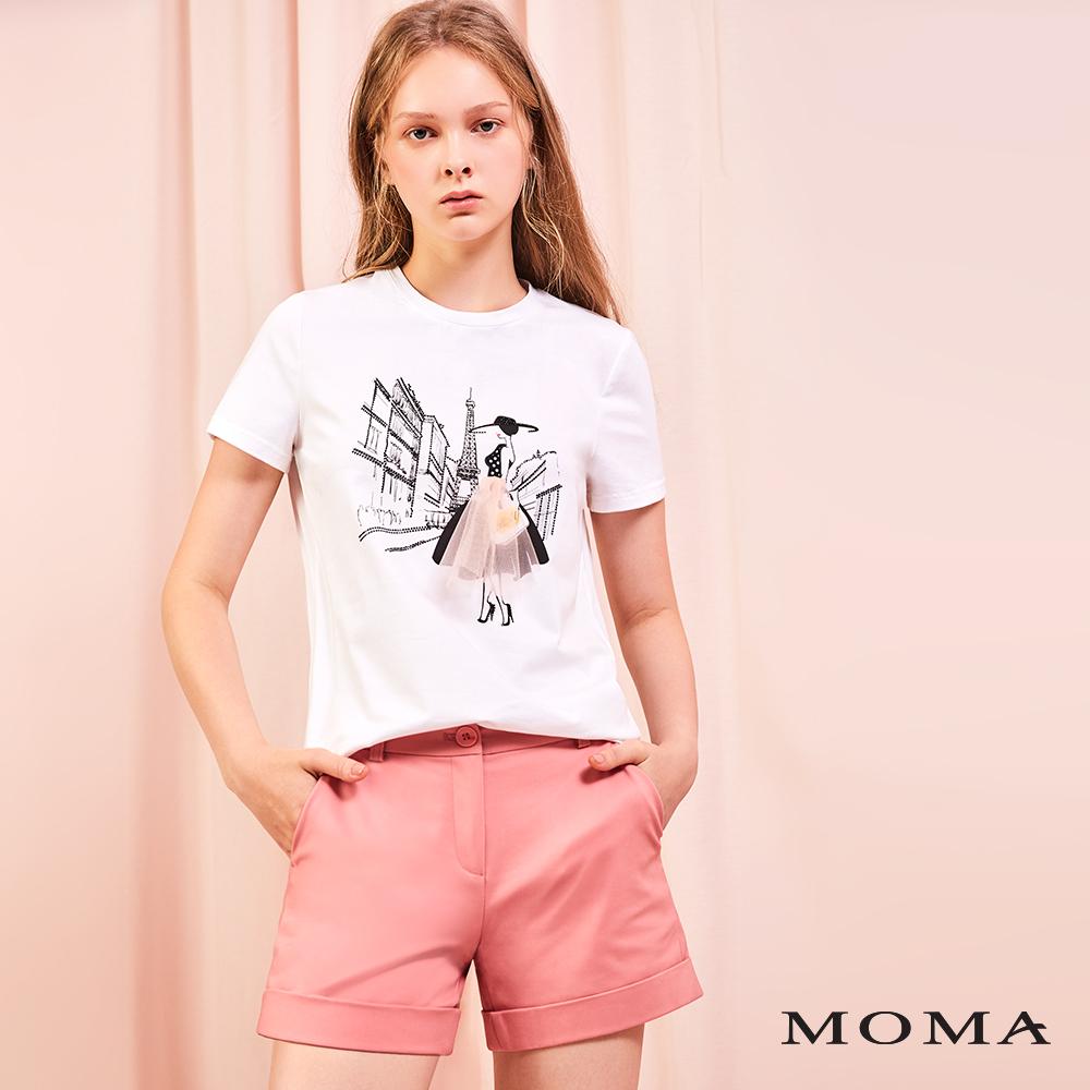 MOMA(01P119)反摺簡約短褲