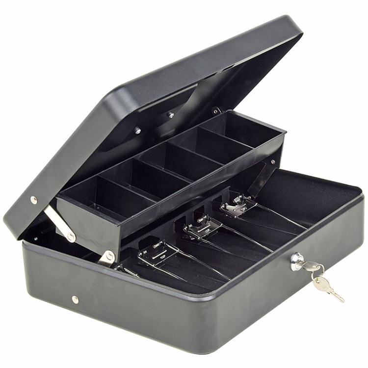快速出貨 收银箱 收銀箱超市商用便利店收款箱多格錢櫃現金盒子鑰匙帶鎖手提收錢箱
