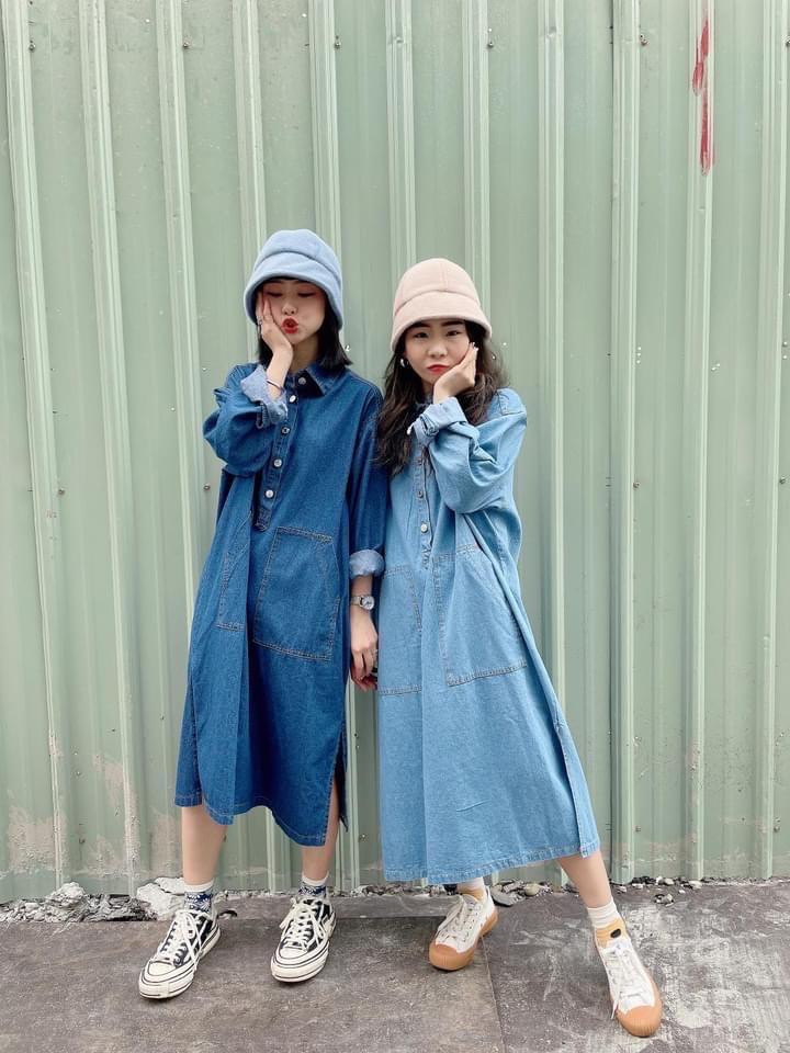 Chemistry_Girls - 韓國 丹寧洋裝 (淺藍)