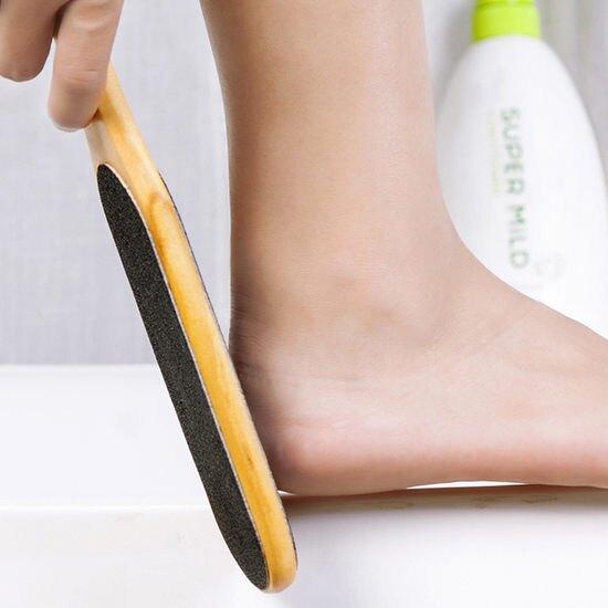 去死皮木質搓腳板 雙面 糙皮 修繭 角質 磨腳 腳皮 乾裂 泡腳 工具 刮腳 ♚MY COLOR♚【N078】