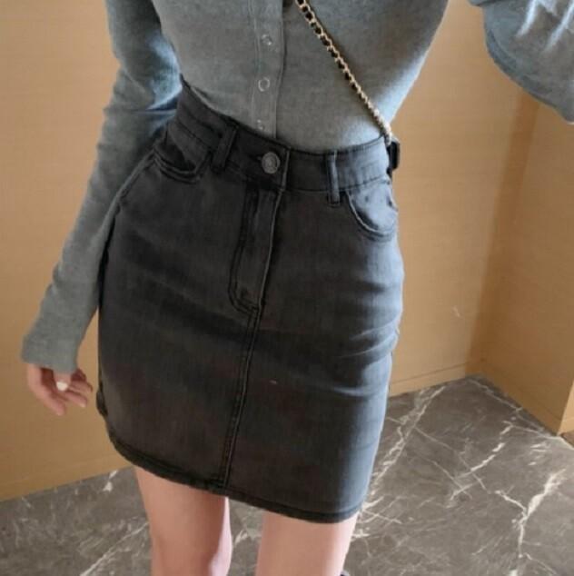 高腰顯瘦牛仔半身裙