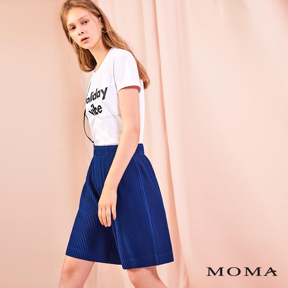 MOMA(01P124)立體壓褶五分褲