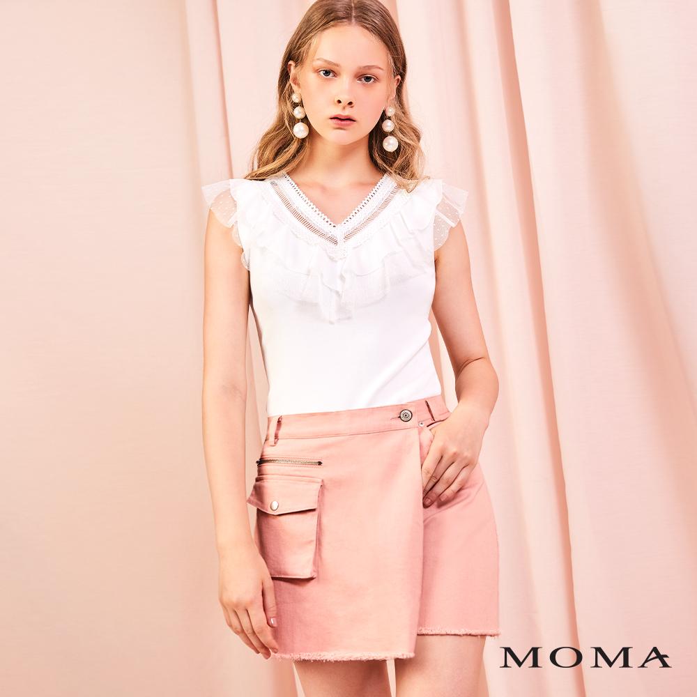 MOMA(01P106)口袋交疊褲裙