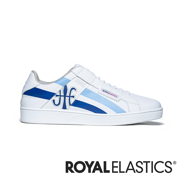 ROYAL ELASTICS Icon Cross 白藍真皮運動休閒鞋 (男) 02901-055