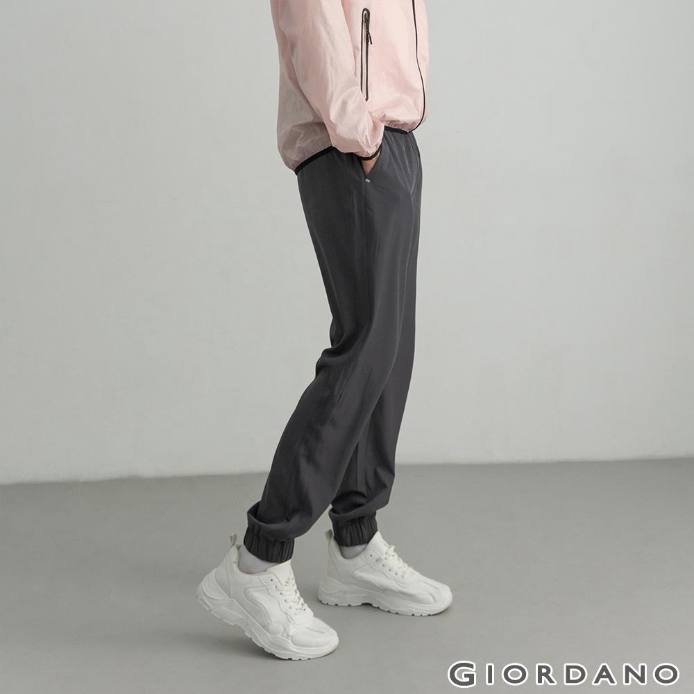 GIORDANO 男裝3M內抽繩束口褲-08 標誌灰