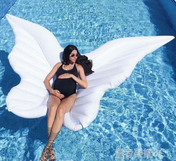 浮毯 海上充氣浮床拍照道具天使之翼天使翅膀浮板浮板大人水上浮毯 摩登生活