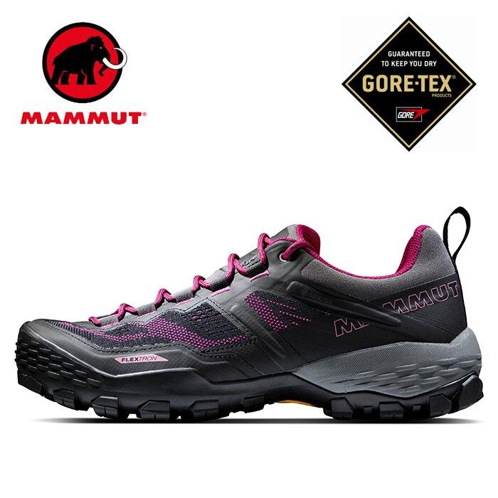 【Mammut 長毛象 瑞士】Ducan Low GTX 防水低筒登山健行鞋 女款 幻影黑/桃紅 (03530-00309)