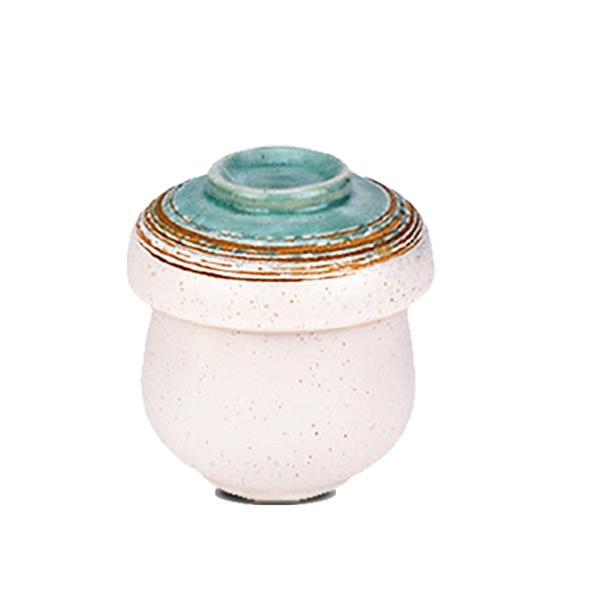[堯峰陶瓷 ] 日式餐具 綠如意系列 茶碗蒸碗(單入) 燕窩燉盅 甜品盅 蒸蛋盅 套組餐具系列 限量免運