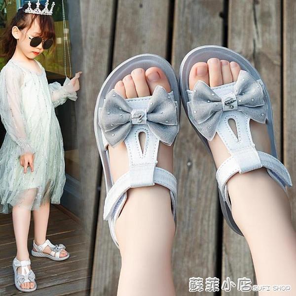 女童涼鞋2021新款兒童夏季小女孩韓版羅馬鞋潮中大童時尚公主涼鞋- 蘇菲小店