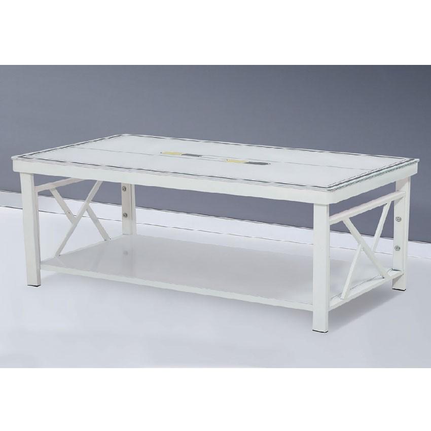 【110cm玻璃茶几-E428-Z035】實木原木玻璃 大理石長方桌 大小邊几 圓桌 【金滿屋】