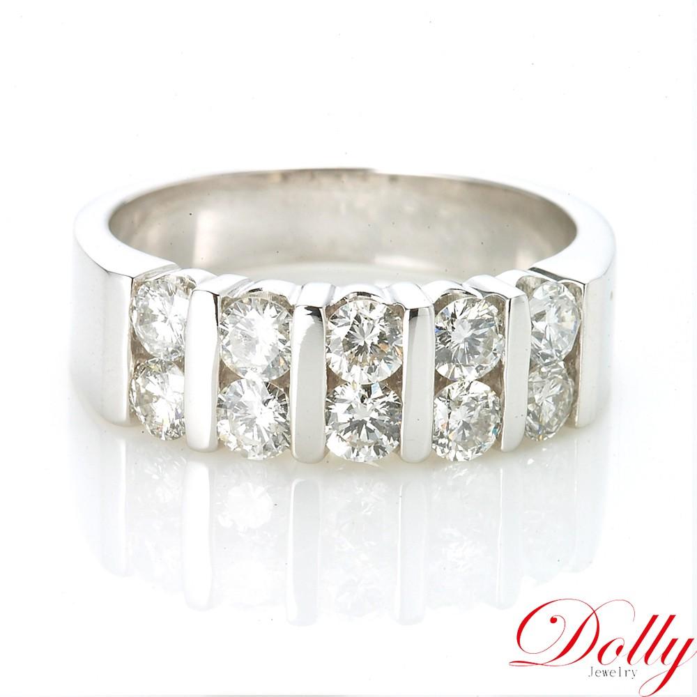 Dolly 求婚戒 天然鑽石 1克拉 14K金鑽石戒指(004)