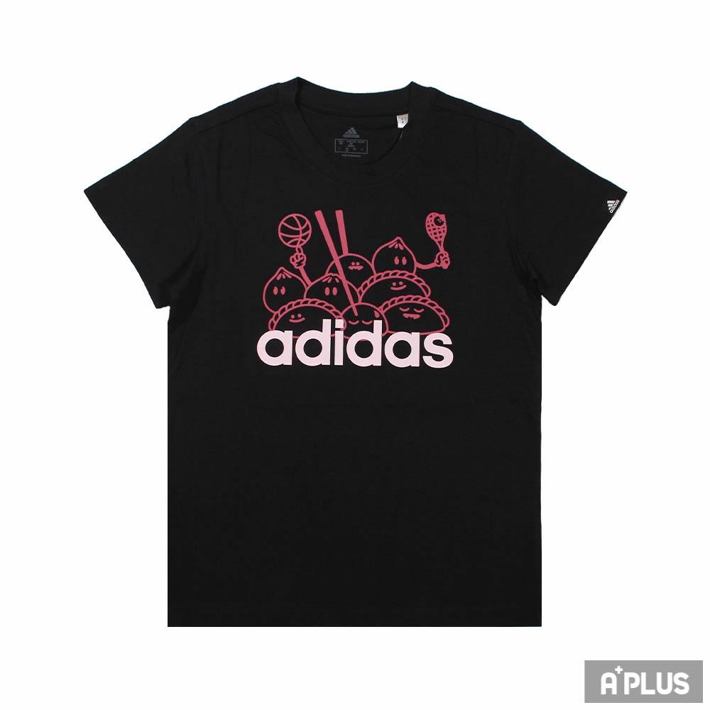 ADIDAS 女 圓領短袖T恤 W DIMSUM G T 運動 休閒 棉質 黑 - GL0959