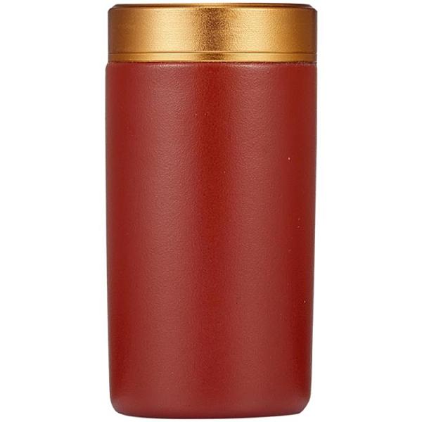 紫砂迷你茶叶罐小号便携旅行随身家用防潮密封罐高档包装盒空礼盒 茱莉亞