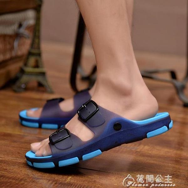 洞洞鞋男拖鞋男士涼拖鞋夏季一字拖鞋時尚沙灘鞋浴室內外穿防滑洞洞鞋 快速出貨