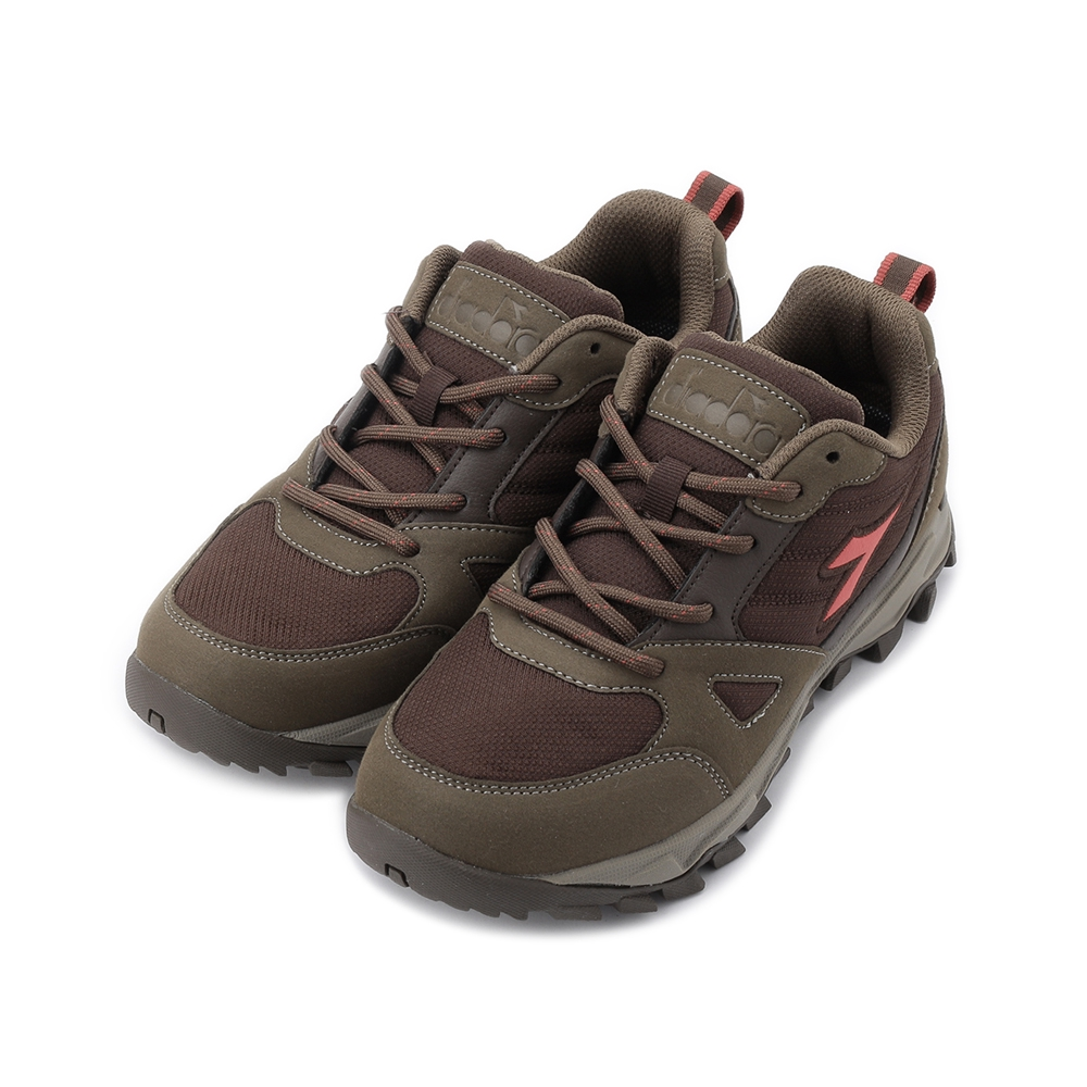 DIADORA 皮革越野跑鞋 咖啡 DA31639 女鞋