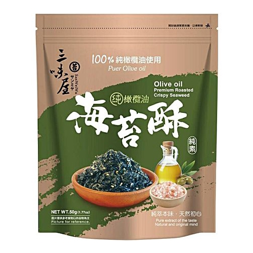 三味屋 橄欖油海苔酥(50g)【小三美日】DS000461