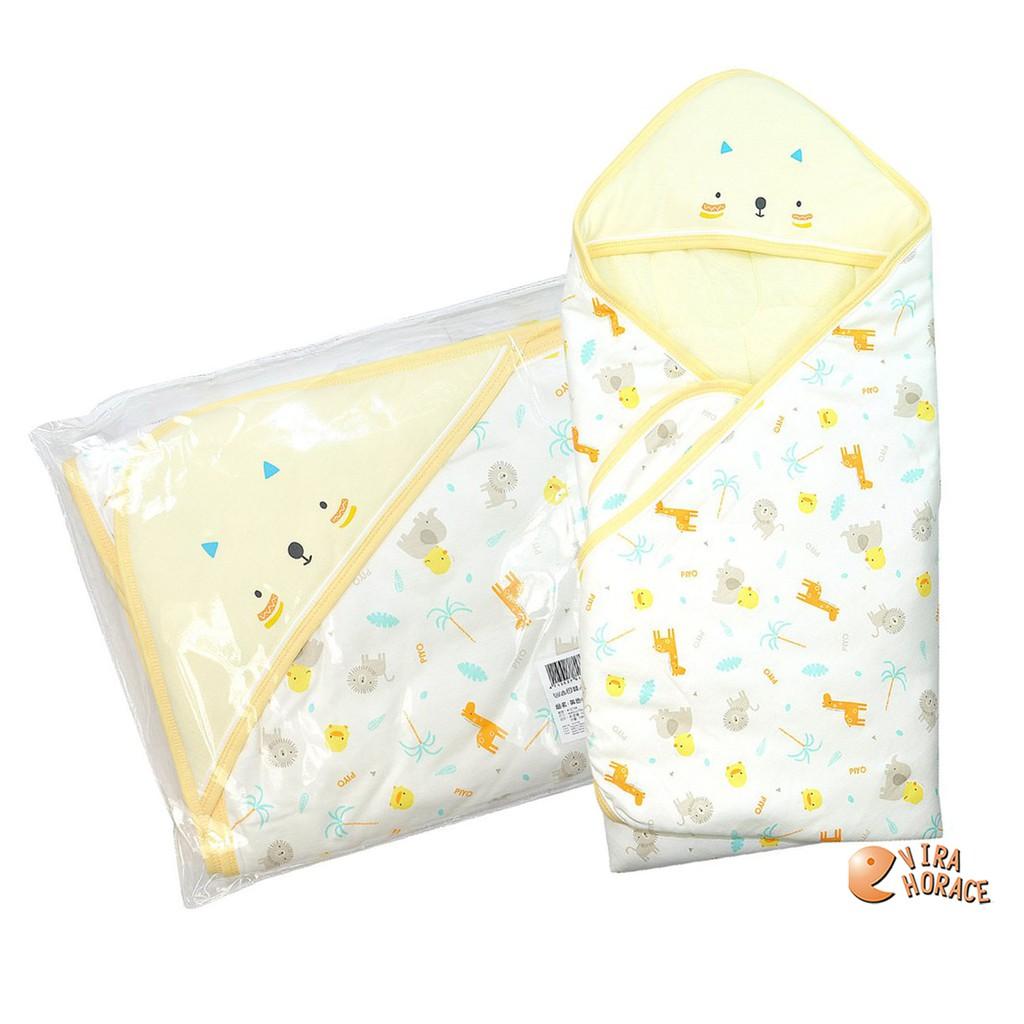 黃色小鴨叢林版四季包巾GT-81798 柔軟保暖 猶如媽媽溫暖懷抱 HORACE