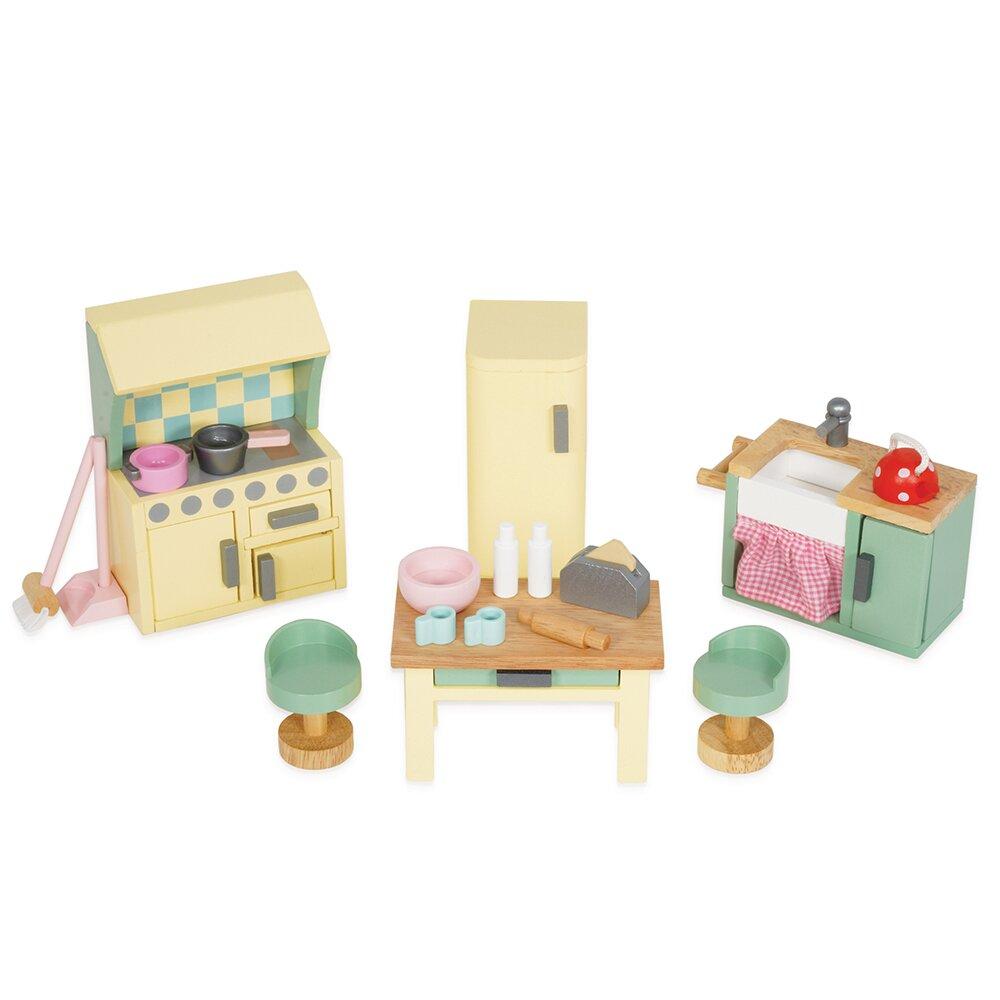英國 Le Toy Van 夢幻娃娃屋配件系列-英式奢華風系列 - 廚房(ME059)