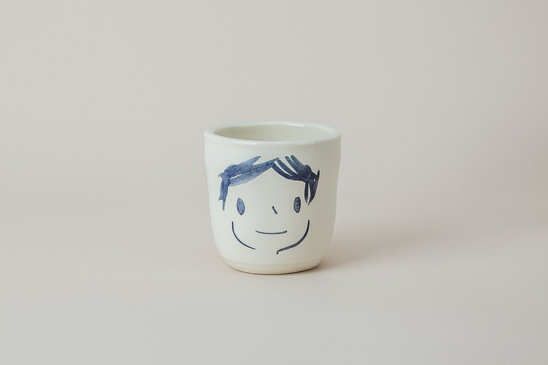 Brut Cake 手繪微笑馬克杯 / 咖啡杯 /茶杯 (38) 有把款