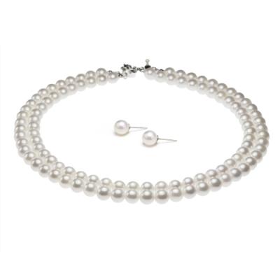 大東山珠寶 8mm南洋貝寶珠雙串套組(白)