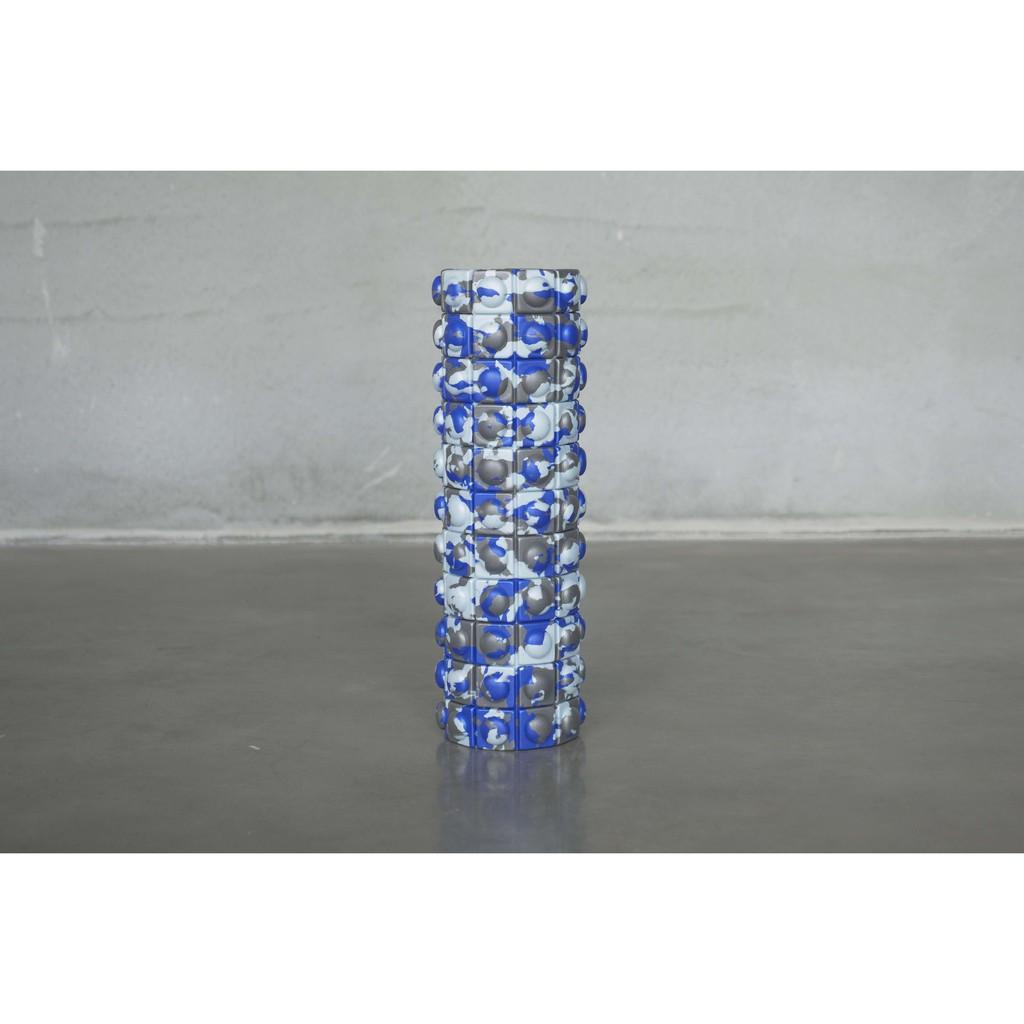 QMAT 40cm按摩滾輪-迷彩藍