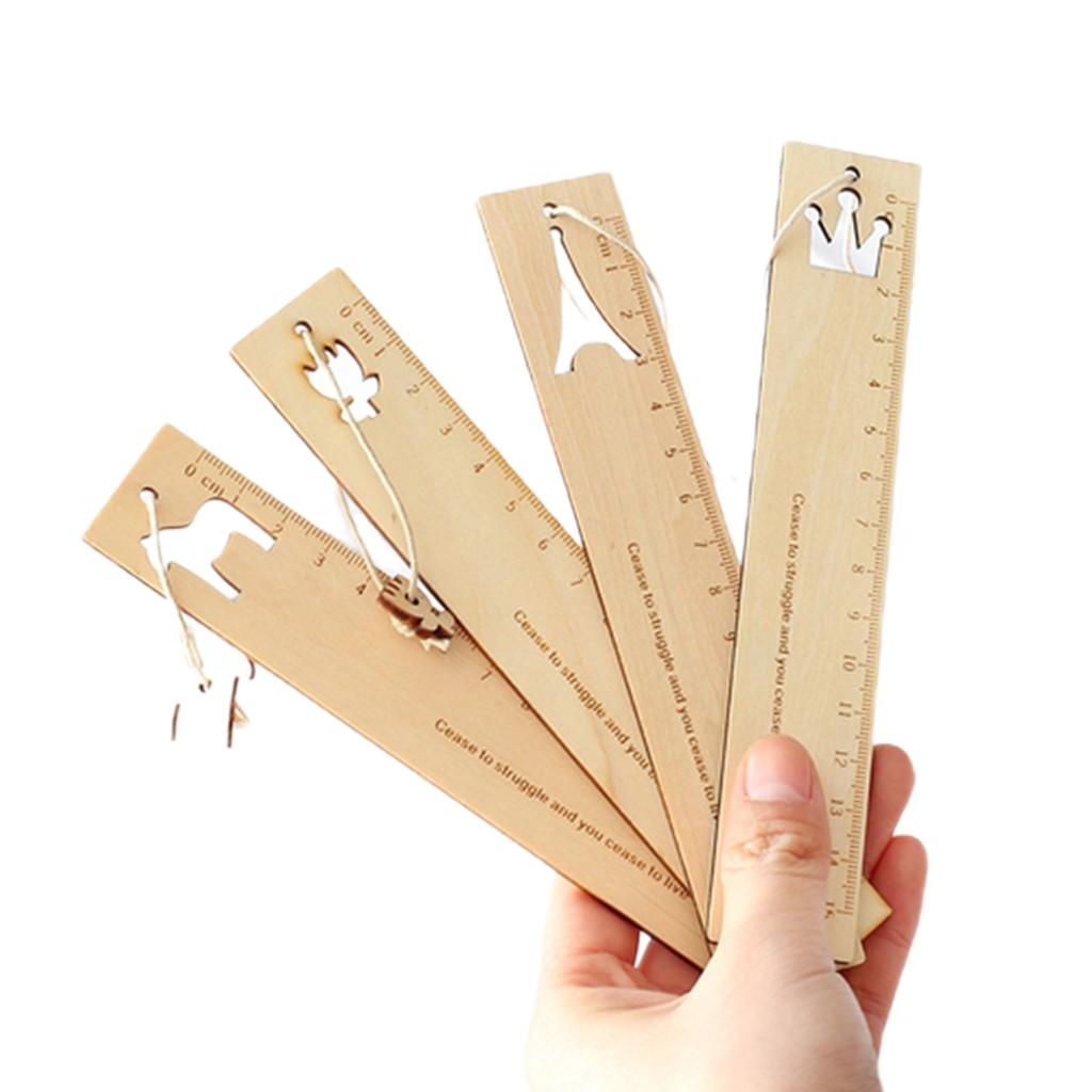 【駿隴】原木直尺書籤 木尺 直尺 原木直尺 小馬 鐵塔 附書籤掛件 15cm 木製文具