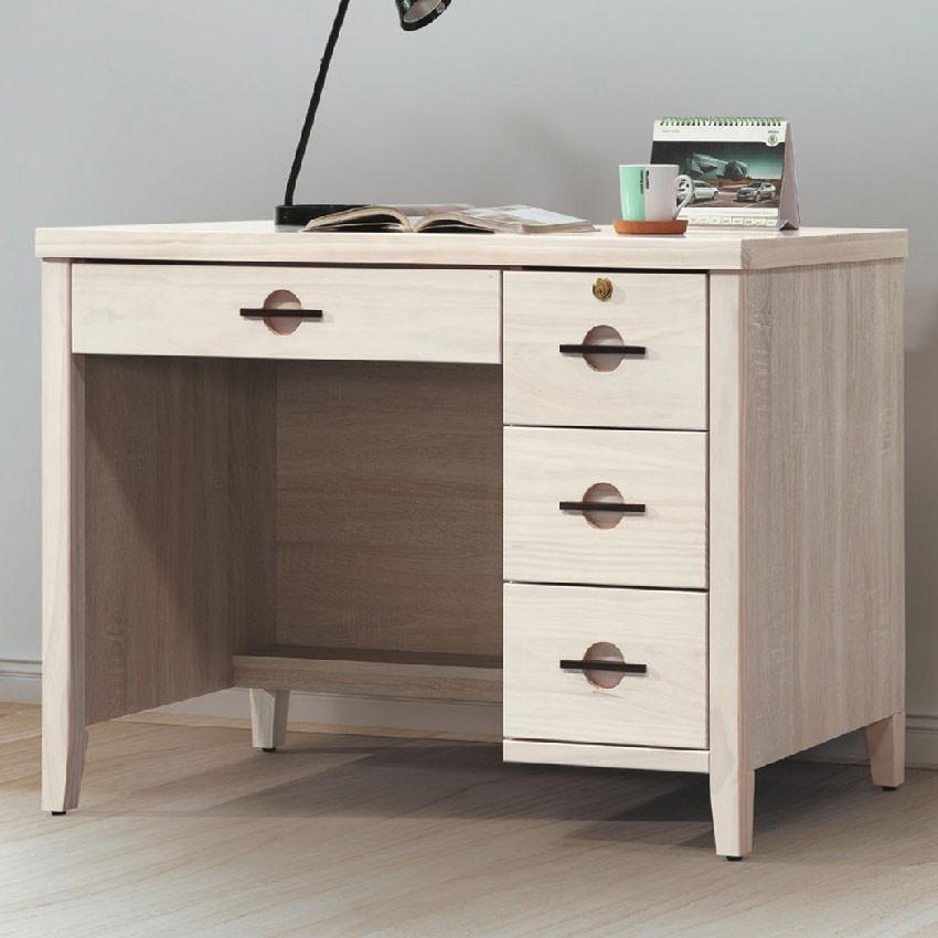 【105cm書桌-E616-1】工作桌 辦公桌 學生書桌 主管桌 書櫃型書桌【金滿屋】