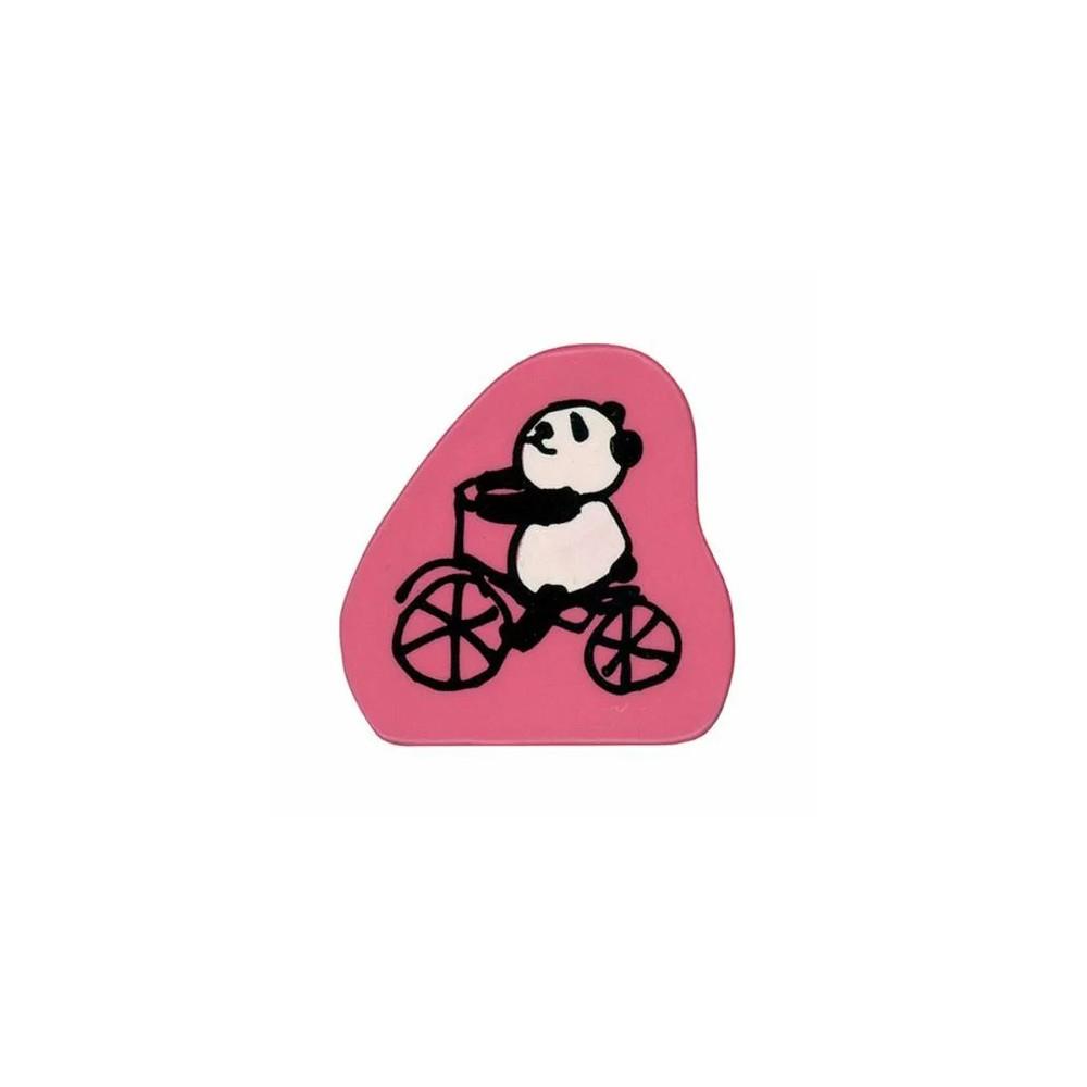 【KODOMO NO KAO】熊貓 木印章 腳踏車 (1680-005)