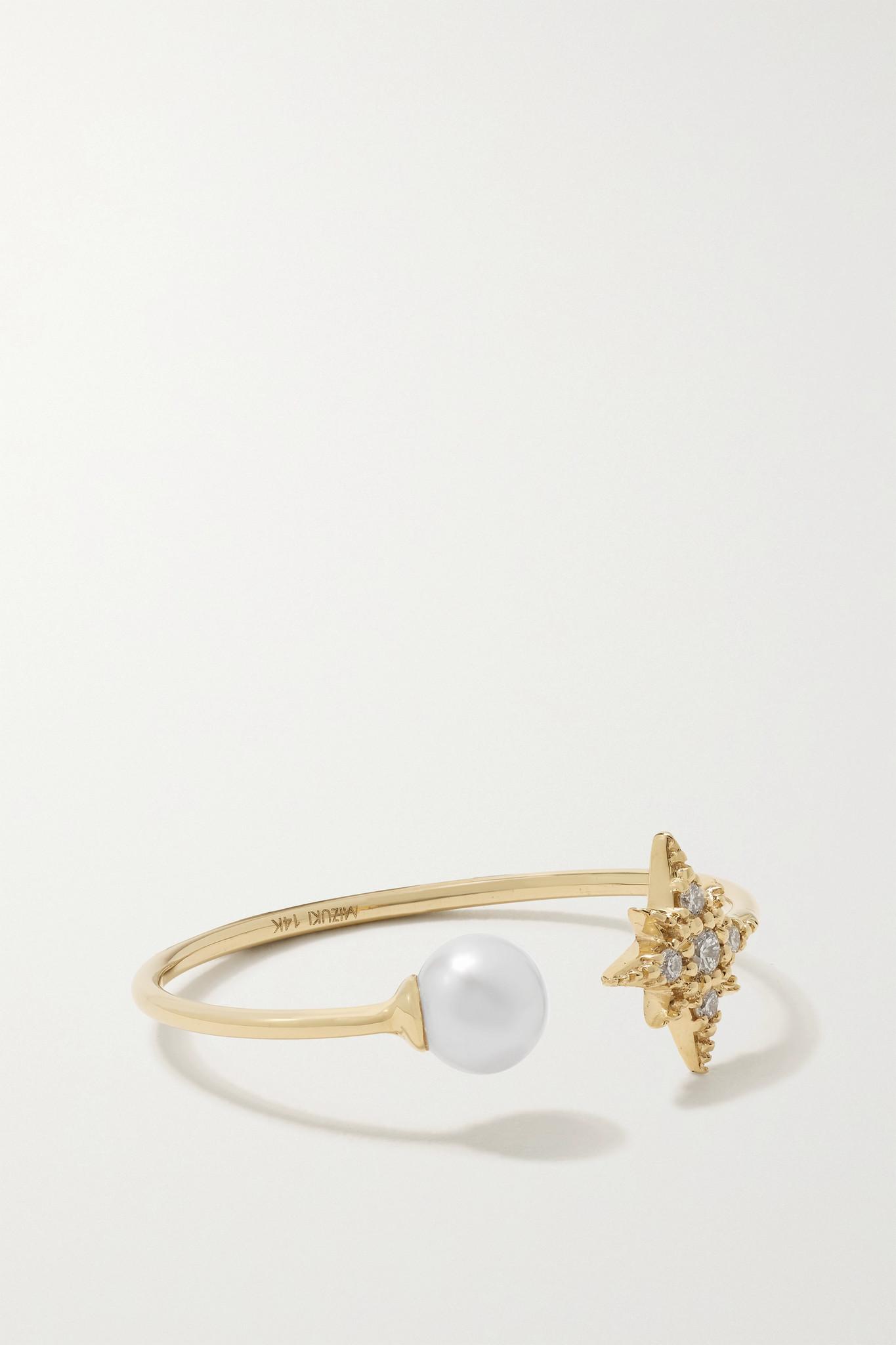 MIZUKI - 14-karat Gold, Pearl And Diamond Ring - 6
