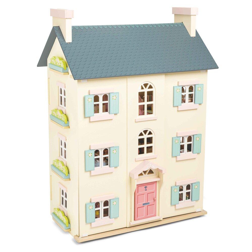 英國 Le Toy Van 夢幻娃娃屋系列-蘇格蘭櫻花官邸娃娃屋 (精品裝潢不含家具)(H150)
