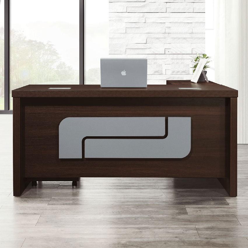 【160cm辦公桌-E606-4】工作桌 辦公桌 學生書桌 主管桌 書櫃型書桌【金滿屋】