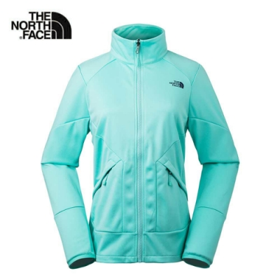 The North Face 女 舒適保暖刷毛運動外套 薄荷綠-NF0A3L9GN2P