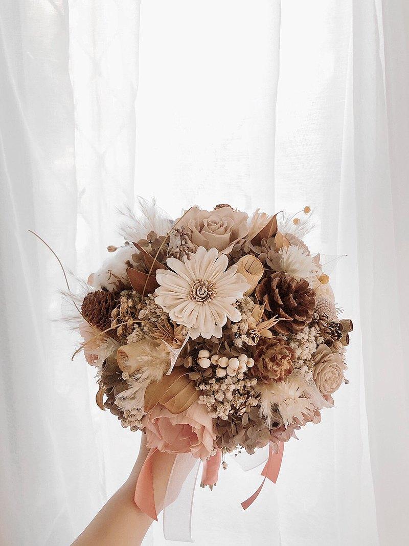 永生花 永生玫瑰花 乾燥花 新娘捧花 拍照花束 求婚花束 婚禮公證