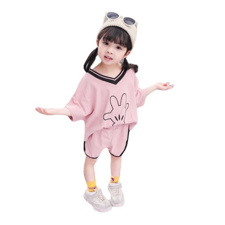 男女童西瓜套裝2020夏季新款韓版寶寶洋氣兩件套短褲童裝