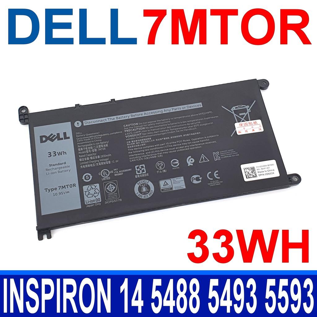 戴爾 DELL 7MTOR 33Wh 3芯 . 電池 7MT0R Chromebook 3100 3400