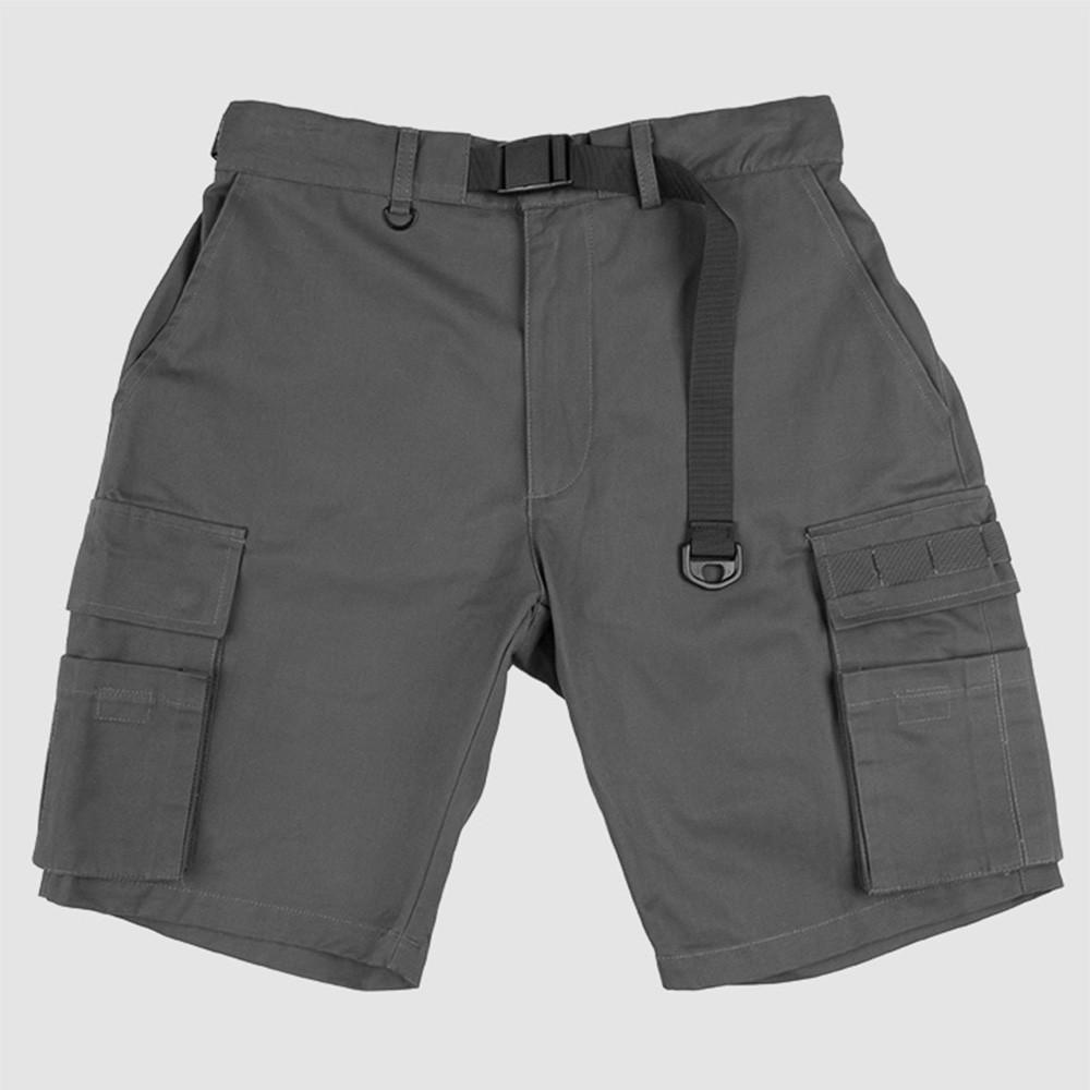 【奎斯特】QUEST CARGO SHORTS 多口袋 工裝 軍裝 短褲 / 灰色