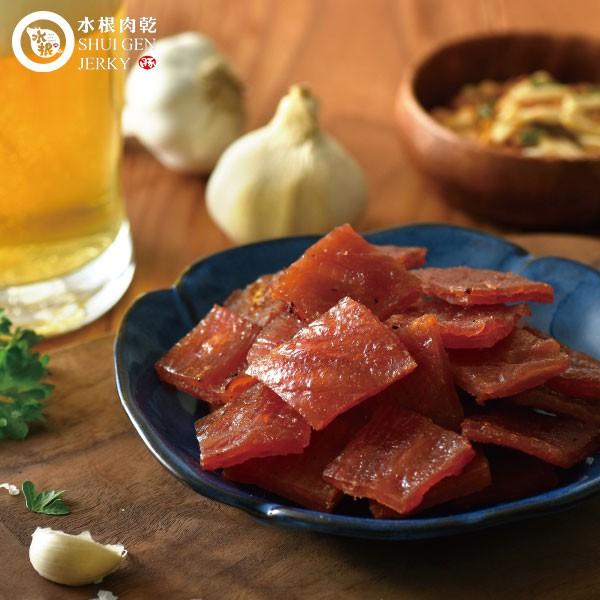 【水根肉乾】D10蒜一口肉乾(獨享包)/80g