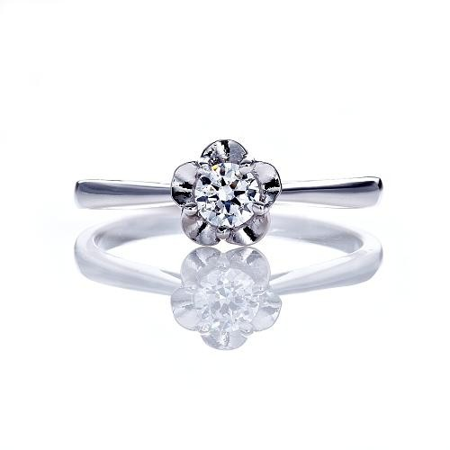 Dolly 求婚戒 0.30克拉完美車工 14K金鑽石戒指(014)
