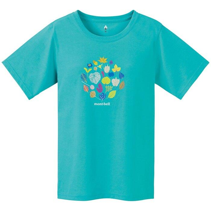 【【蘋果戶外】】mont-bell 1114182LTCN【女款】山木葉 Wickron 短袖排汗衣 排汗T恤 機能衣