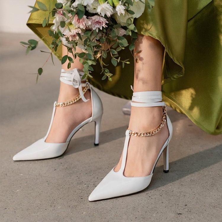 VIVILIAN優雅多穿法纏繞專櫃品質高質感尖頭高跟鞋