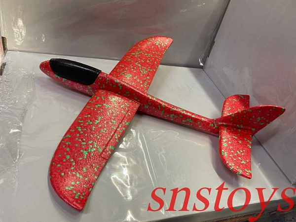 sns 古早味 DIY飛機 模型飛機 保麗龍紙飛機 保麗龍飛機 長47公分(顏色隨機出貨)