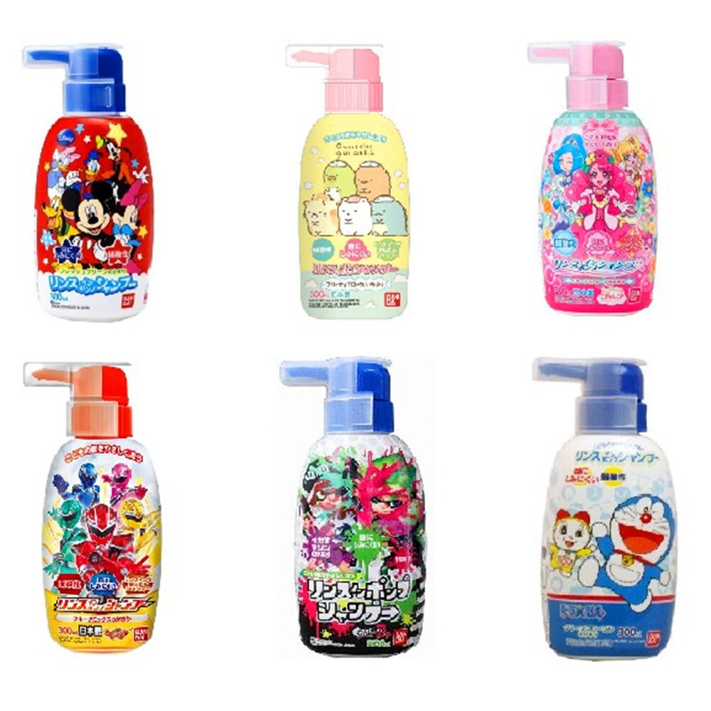 日本【Bandai】世界名動畫系列 兒童弱酸性洗髮精300ml