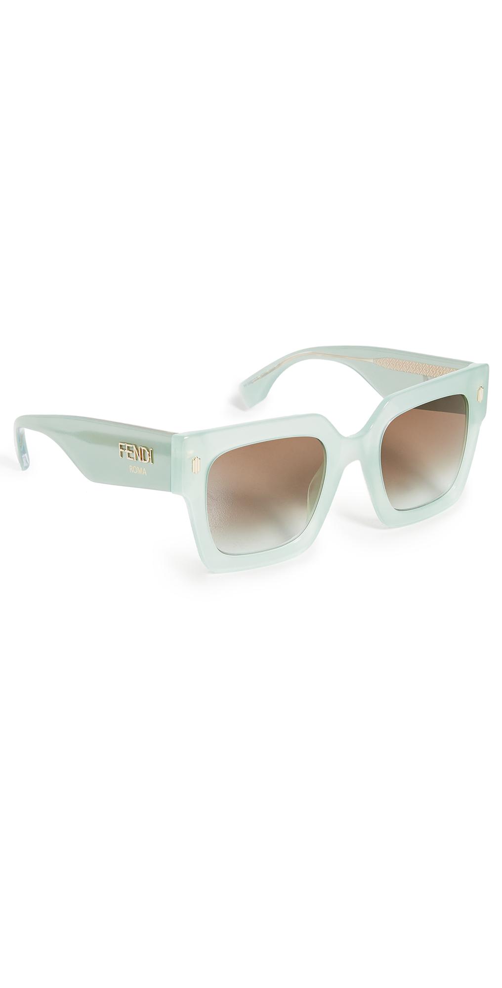 Fendi Classic Square Logo Sunglasses