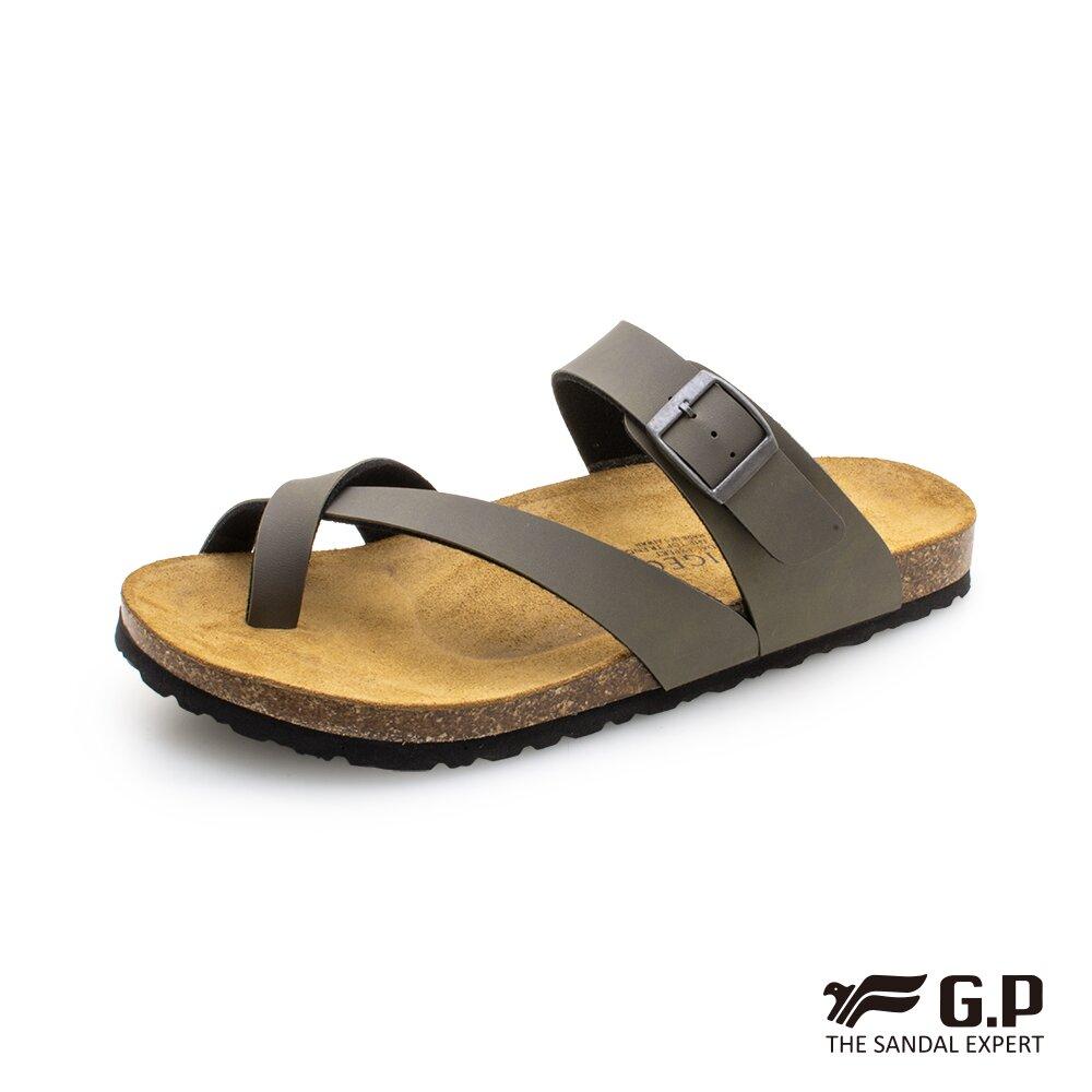 【G.P】男款套指柏肯拖鞋 M381-60 綠色(SIZE:40-44 共二色)