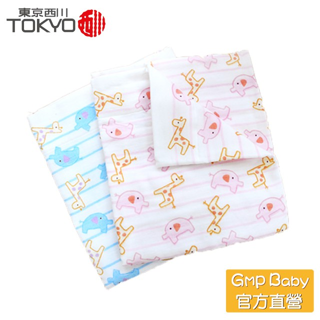 東京西川 - 長頸鹿大象 今治三重紗超吸水包巾