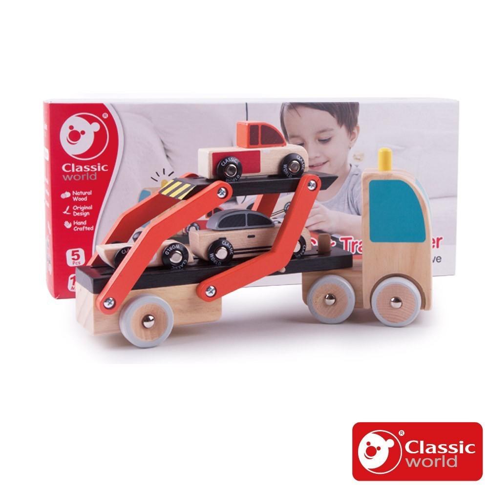 【角色扮演_適合3歲以上】兒童拼裝雙層卡車《德國Classic world客來喜經典木玩》官方直營
